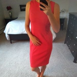 Woman's red midi dress size 4 ELIZA J